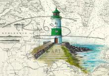 Leuchtturm Schleimünde Postkarte 10x15cm