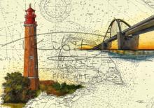 Leuchtturm Flügge und Fehmarnsundbrücke