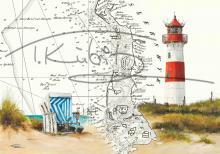 Leuchtturm List Ost Postkarte 10x15cm