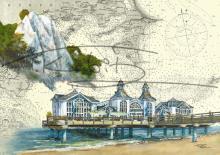 Königsstuhl auf Rügen und Seebrücke Sellin