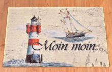 Moin, moin, Leuchtturm und Gaffelketsch Roter Sand