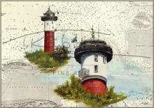 Leuchtturm Wangerooge Postkarte 10x15cm
