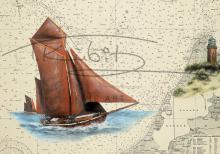 Zeesboot vor Darßer Ort