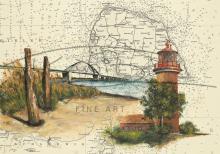 Leuchtturm Staberhuk und Fehmarnsundbrücke