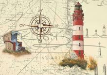 Leuchtturm Amrum Postkarte 10x15cm