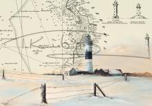 Leuchtturm Kampen auf Sylt, im Winter