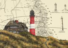 Leuchtturm Hörnum auf Sylt Postkarten 10x15cm