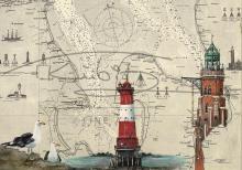 Leuchtturm Bremerhaven und Arngast