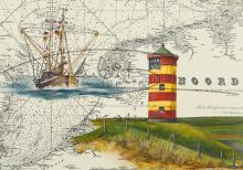 Leuchtturm Pilsum Postkarte 10x15cm
