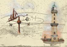 Leuchtturm Warnemünde Postkarte 10x15cm