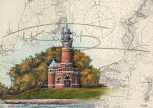 Leuchtturm Holtenau Kiel Tischset Format A3, laminiert, strapazierfähig, wasserfest, abwischbar