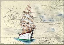 Segelschulschiff Gorch Fock Tischset Format A3, laminiert, strapazierfähig, wasserfest, abwischbar