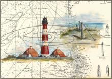 Leuchtturm Westerheversand mit Meersicht