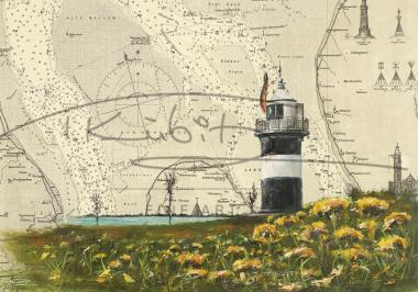 """Leuchtturm """"Kleiner Preuße"""" am Wremer Tief Postkarte 10x15cm"""