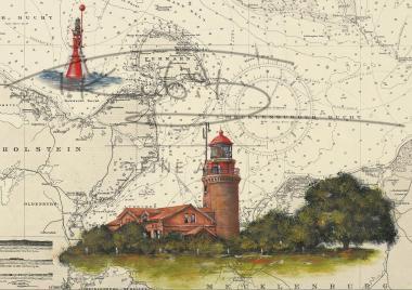 Leuchtturm Buk Postkarte 10x15cm