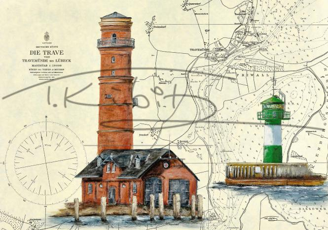 Leuchtturm Travemünde und Molenfeuer