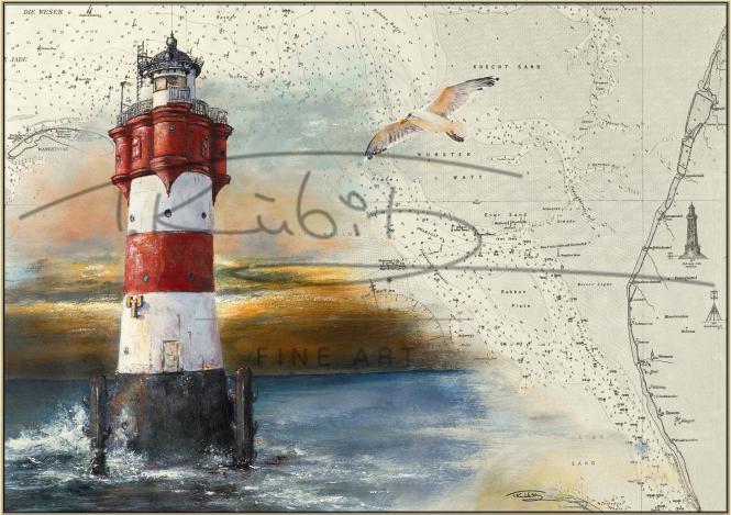 Leuchtturm Roter Sand Postkarte 10x15cm