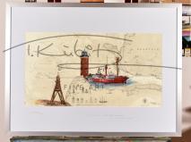 Cuxhaven mit Leuchtturm Alte Liebe & Feuerschiff Elbe 1