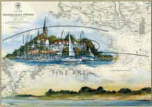 Tischset Flensburger Hafen im herbstlichen Licht