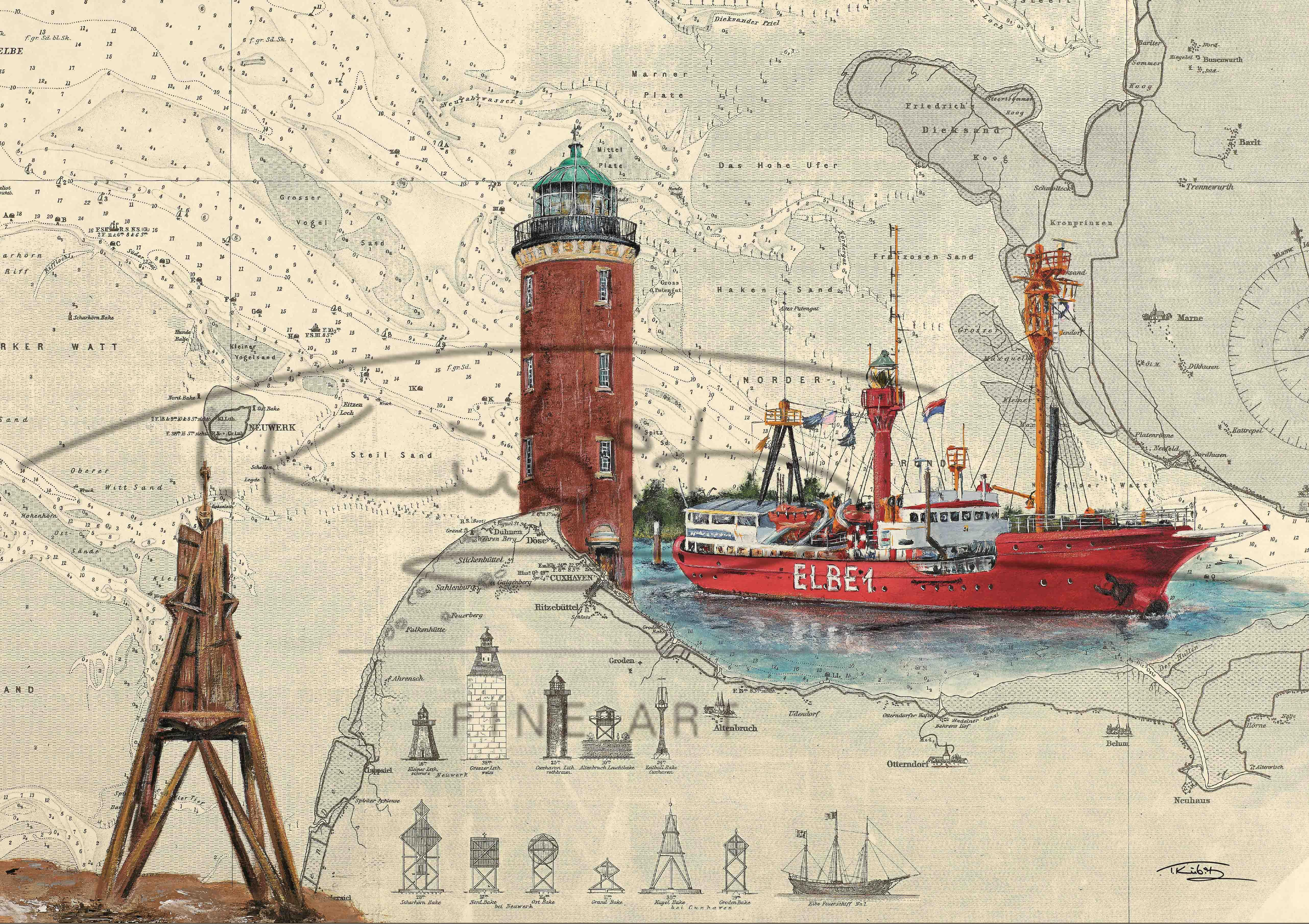 thomas kubitz fine art eshop leuchtturm cuxhaven. Black Bedroom Furniture Sets. Home Design Ideas